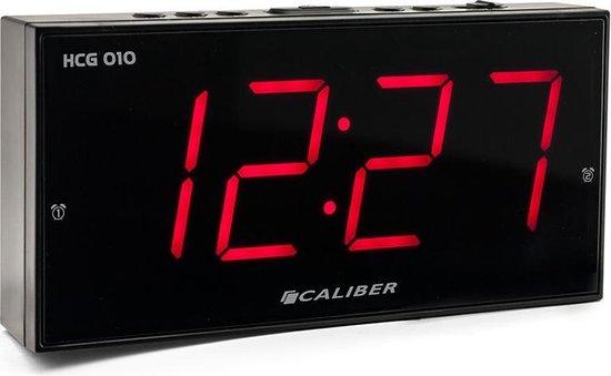 Caliber HCG010 Wekker met grote rode cijfers
