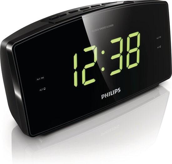 Philips AJ3400 Wekkerradio Met Grote Cijfers